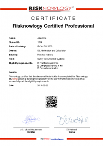Sample Certificate of Competence - John Doe