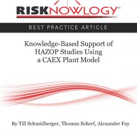 Knowledge Based Support of HAZOP Studies Using a CAEX Plant Model