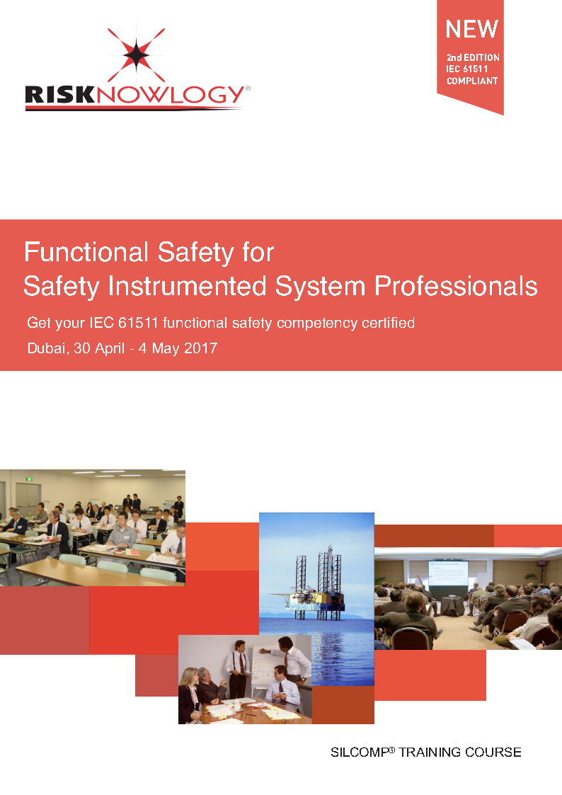 Functional Safety for Safety Instrumented System Professionals. Cover page
