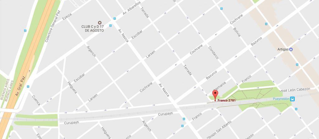 Centro Cultural FALDAD - Plano de acceso y localización