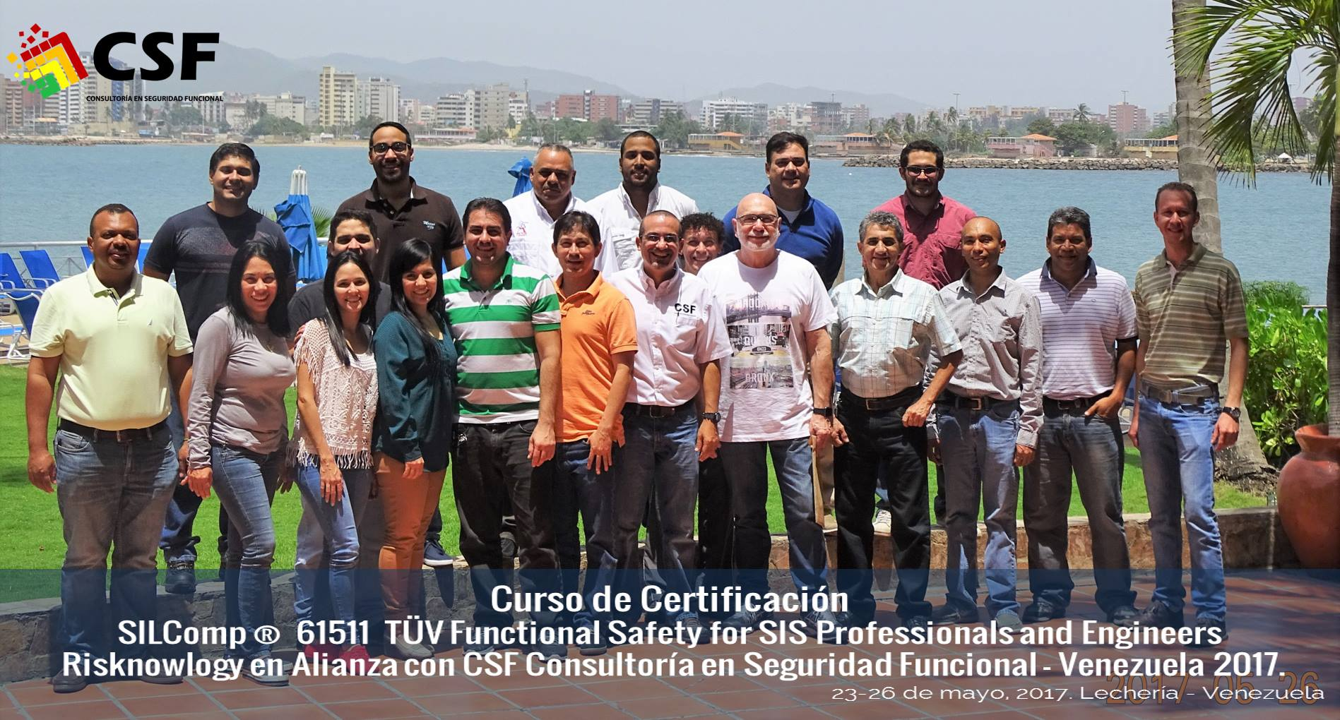 SIL competency in Venezuela - Attendees to the certification course SILComp 61511 Pro